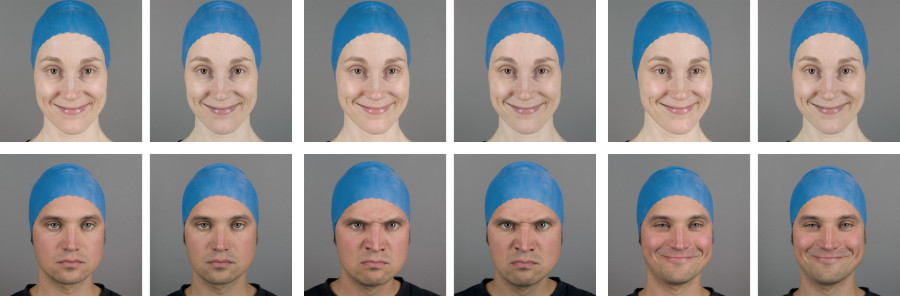 Stereoscopic facial expression stimuli
